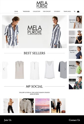 mela purdie website by intervision design