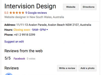 should you have a google my business listing yes you should by intervision design