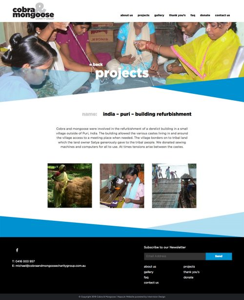 Cobra & Mongoose Charity Group by Intervision Design