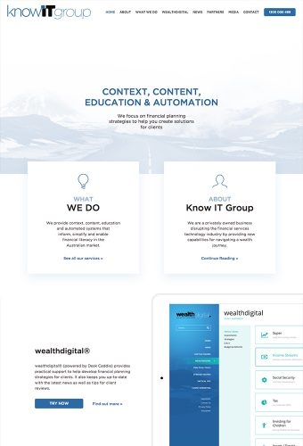 KnowIT group website by intervision design