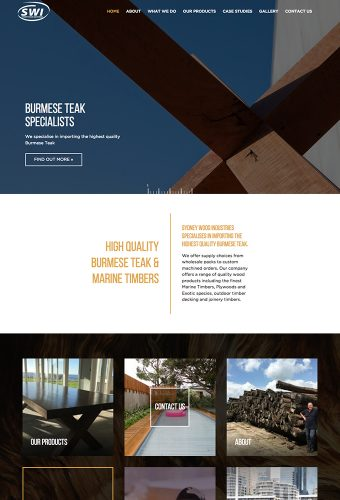 Sydney Wood website by intervision design