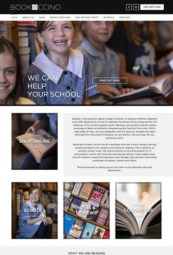 bookoccino website design by intervision design