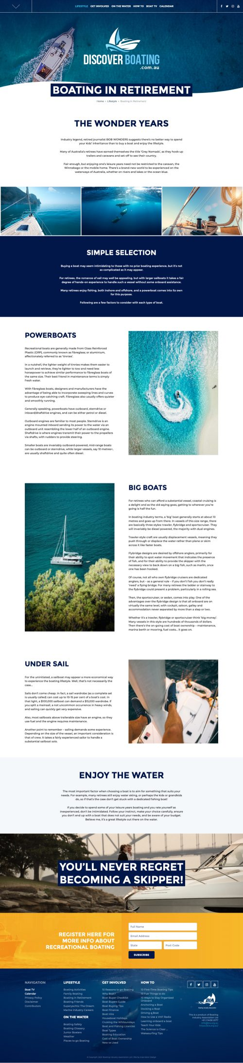 Discover Boating by Intervision Design